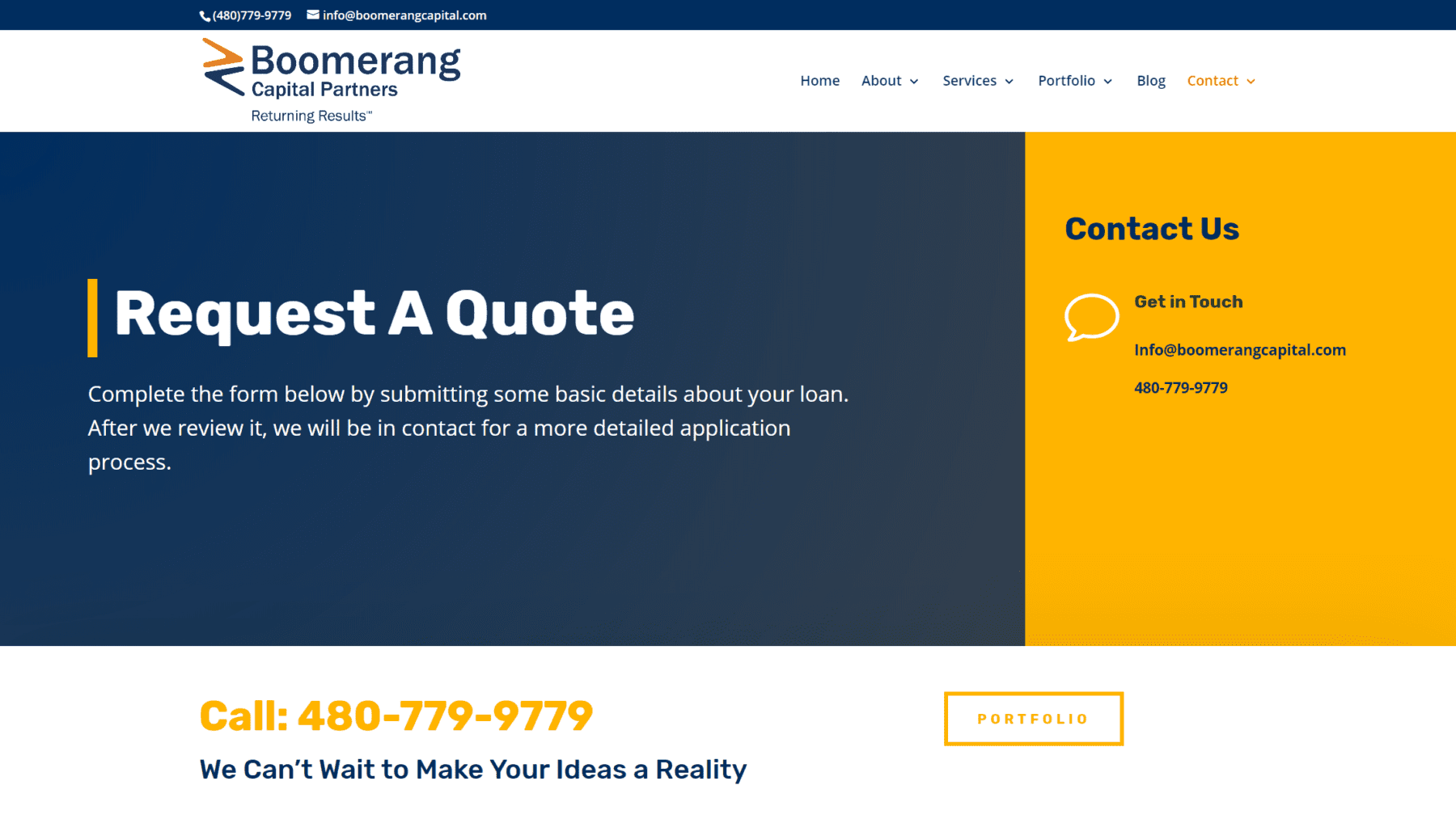 Boomerang Capital Request a Quote