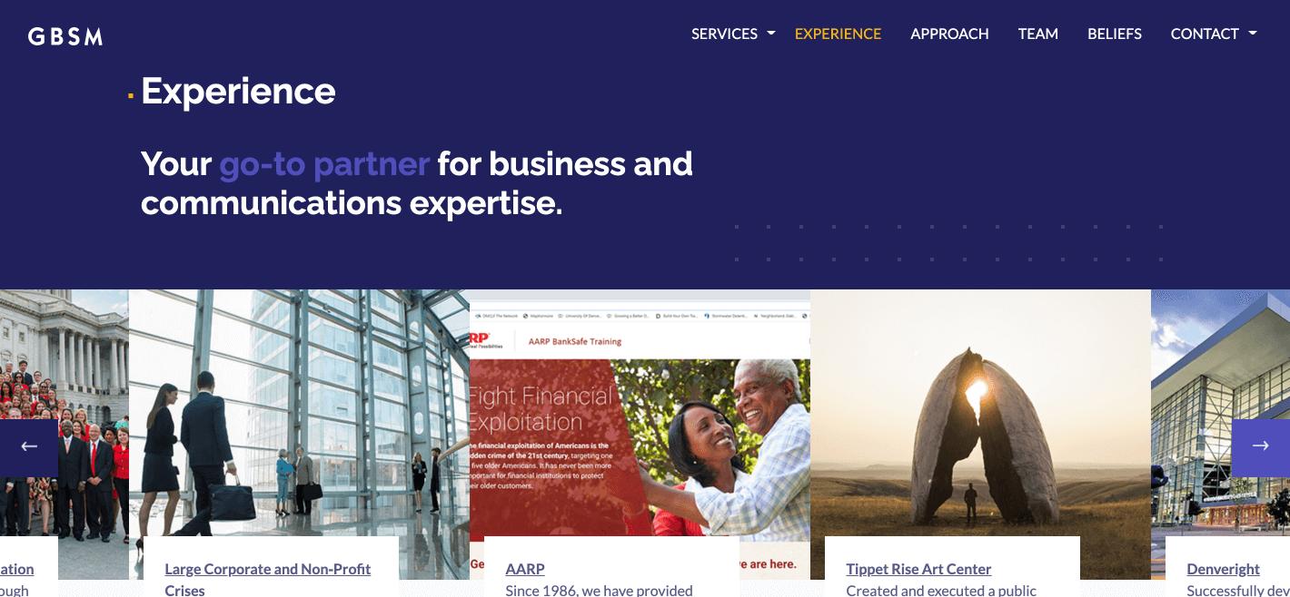image of GBSM website