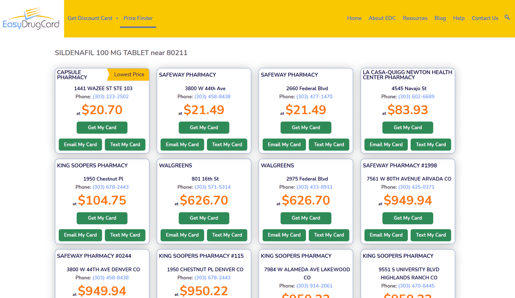 image of Easy Drug Card pricing tool